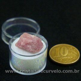 Turmalina Rosa Bruta Pedra Natural No Estojo Cod 126945