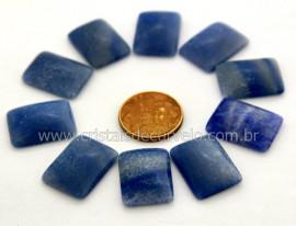 10 Retangulo Cabochao pra Pingente Pedra Quartzo Azul Lapidado Calibrado 15 x 20 MM