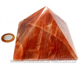 Pirâmide GRANDE Pedra Aragonita Vermelha Natural Queops 119026