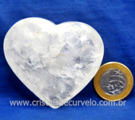 Coração Cristal Comum Qualidade Natural Garimpo Cod 127995