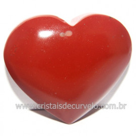 Coraçao Jaspe Vermelho Pedra Natural de Garimpo Cod 118265