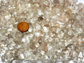 Cristal Tok Fumê Pedra Rolado Pequeno Pct 500 Gr Reff FP2732