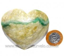 Coraçao Jade Verde Natural Origem Montes Claros MG Cod 117869
