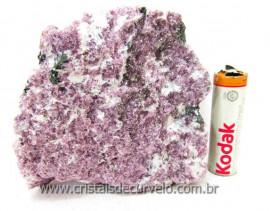 Lepidolita Mica Mineral Para Colecionador Pedra Natural de Garimpo Cod 380.0