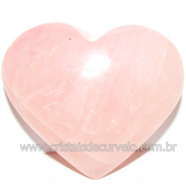 Coração Pedra Quartzo Rosa Natural Pedra do Amor Cod 116221