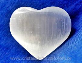 Massageador Selenita Coração Pedra Natural Acabamento Suave REEF 130.5