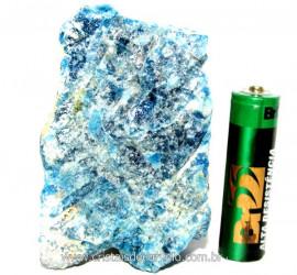 Apatita Azul Em Bruto Pedra Media  Para Esoterico ou Colecionador Cod AB6193