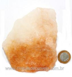 Hematoide Amarelo Pedra Bruto Quartzo Natural Cod 121523