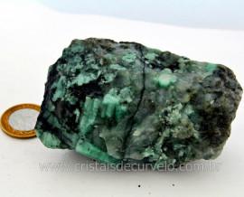 Esmeralda Bahia Canudo Incrustado no Xisto Pedra de Colecionador Cod 295.7