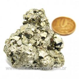 Pirita Peruana Pedra Extra Com Belos Cubo Mineral Cod 124229