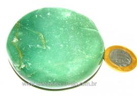 Massageador Disco Cristal Quartzo Verde  Pedra Natural Cod DV7730
