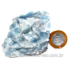 Calcita Azul Pedra Natural Ideal P/ Colecionador Cod 123737