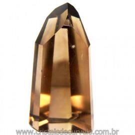 Ponta Citrino Natural e Fume Pedra Quartzo Bi Color 109296