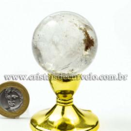 Bola Cristal Inclusão Lodolita Natural Esfera Especial 120467