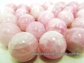 10 Mini Bola Quartzo Rosa Esfera Pequena Em Pedra Natural ATACADO