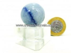 01 Mini Bola Aventurina Azul Esfera Pedra Natural e Pequena Cod 22.8