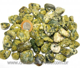 1kg Jadeita Rajada Natural Rolado Tamanho Medio Reff 109741
