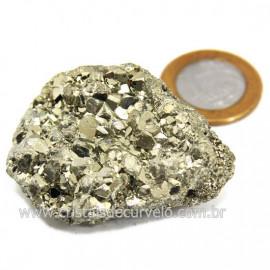 Pirita Peruana Pedra Extra Com Belos Cubo Mineral Cod 124230