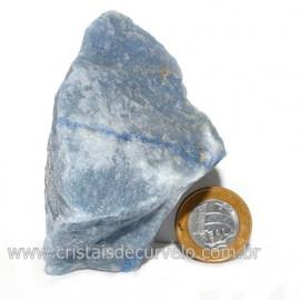 Quartzo Azul ou Aventurina Azul Bruto Natural Cod 123192