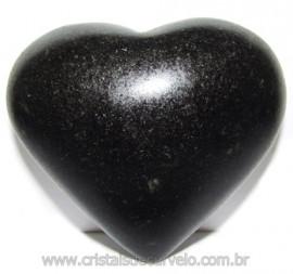 Coraçao Quartzo Preto Quartzito Negro Natural Cod 115330