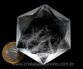 Estrela De Davi Ou Selo de Salomão Pedra Cristal De Quartzo cod 161.9