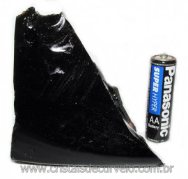 Obsidiana Negra Mineral Vulcanico Pedra Natural Cod 115846