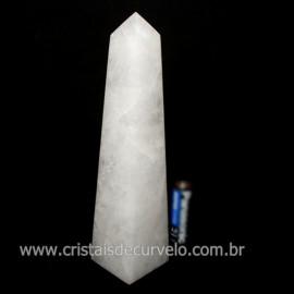 Obelisco Quartzo Leitoso Pedra Natural Lapidado Cod 126115