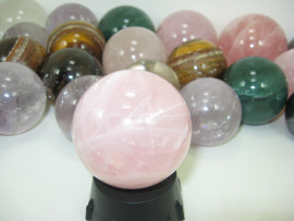 01 Kg Bola Pedras Misto Esferas Pedra Natural Pacote ATACADO