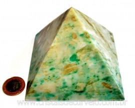 Pirâmide GRANDE Pedra Jade Verde Natural Queops cod PG5060