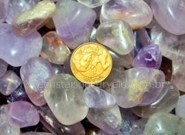 3kg Ametista Media pedra Rolado Comum REFF PR3568