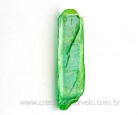 Ponta Crystal Aura Apple ou Maça Verde Pedra Bruta Cod AA3496