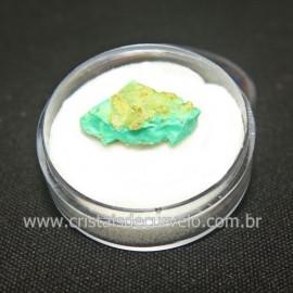 Crisoprasio Bruto Lasca No Estojo Mineral Natural Cod 118539