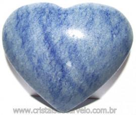 Coração Quartzo Azul Pedra Natural de Garimpo Cod 115003