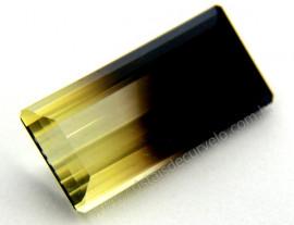 Gema Quartzo Bi Color Pedra Natural Montagem Joia Cod QB4236