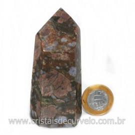 Ponta Riolita Lava Vulcanica Lapidada Sextavado Cod 128772