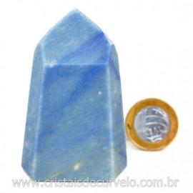 Ponta Quartzo Azul Pedra Natural Gerador Sextavado Cod 127769