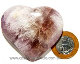 Coração Ametrino Pedra Natural Presente Ideal Cod 108075