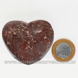Coração Pedra Quartzo Jiboia Natural Lapidação manual Cod 126887