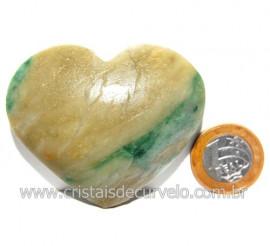 Coraçao Jade Verde Natural Origem Montes Claros MG Cod 117871