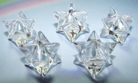 10 Merkabah Cristal Sem Furo Boa Transparência Lapidação Vibrador ATACADO