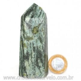 Ponta Pedra Quartzo Brasil Natural Gerador sextavado 128262