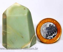 Ponta Pirofilita Verde Gerador Pedra Com Dendrita Cod 101514