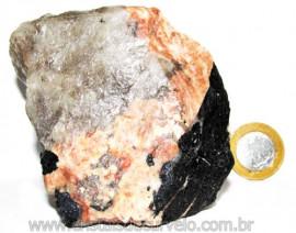 Turmalina Preta na Matriz de Feldspato Rosa Quartzo e Mica Cod 110773
