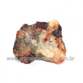 Piropo Granada Pedra Natural Incrustado na Matriz Cod 118503