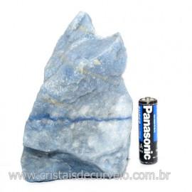 Quartzo Azul ou Aventurina Azul Bruto Natural Cod 123185
