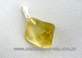 Pingente CITRINO Natural de MG Pedrinha Rolado Mineral