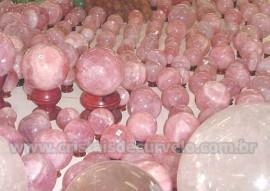 Esfera Bola de QUARTZO ROSA no ATACADO Cristal Rosa Pacote 5kg