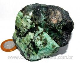 Esmeralda Bahia Canudo Incrustado no Xisto Pedra de Colecionador Cod 321.4
