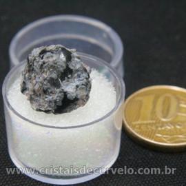 Obsidiana Flocos de Neve Pedra Natural Amostra Estojo Cod 126963