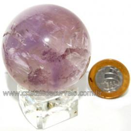 Esfera Ametista Pedra Comum Qualidade Natural Cod 113370